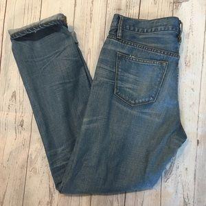 J. CREW Slim Broken-In Distressed Boyfriend Jeans